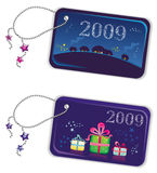 New year trinket tags 2009 2 Stock Photo