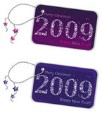 New year trinket tags 2009 Royalty Free Stock Images