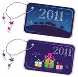 New year trinket tags 2011 Stock Photos