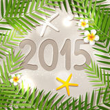 New Year in tropical place Royalty Free Stock Photography