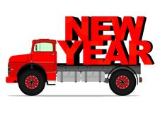 New year truck Stock Photography