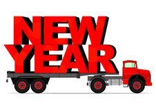 New year truck Royalty Free Stock Photo