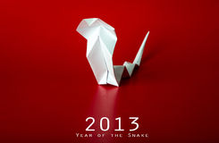 New Year with true paper snake. 2013 New Year with true paper snake Royalty Free Stock Photography