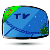 New Year and TV Royalty Free Stock Images