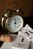New year at twelve o'clock Royalty Free Stock Photo
