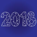 2018 Happy new year two thousand eighteen. 2018 new year two thousand eighteen decorative number Stock Images