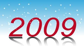 New Year. Two thousand and nine. New Year's numbers, (New Years's and Christmas collection of illustrations vector illustration