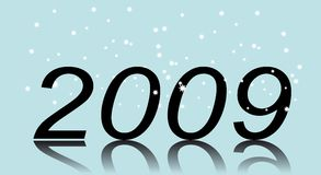 New Year. Two thousand and nine. New Year's number (New Years's and Christmas collection of illustrations stock illustration
