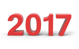 New Year 2017 type, 3d rendering Stock Photos