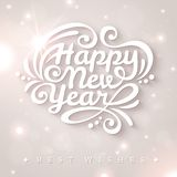 New year typographic design. Stock Image