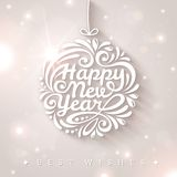 New year typographic design. Royalty Free Stock Photography