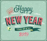 New year typographic design vector illustration