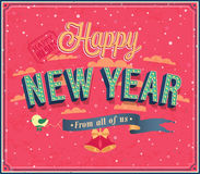 New year typographic design. Royalty Free Stock Photo