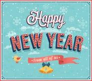 New year typographic design. Royalty Free Stock Photo
