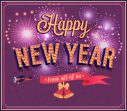 New year typographic design. Stock Images