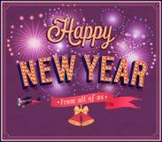 New year typographic design. Stock Images
