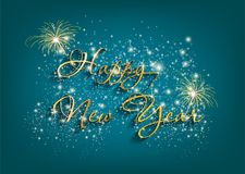 New Year Typographical background Stock Image