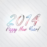 New Year Typography. Background in retro style with 2014 and label Stock Image