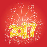 New Year 2017 typography Stock Images