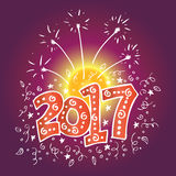 New Year 2017 typography Royalty Free Stock Images