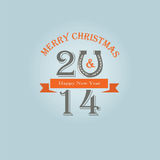 2014 new year. Vector background Stock Photography