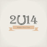 2014 new year. Vector background Stock Photo