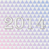 2014 new year. Vector background Stock Image