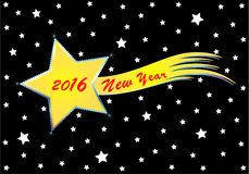 New Year 2016. Vector background with comet for the New Year 2016 Stock Image