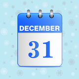 New-year vector calendar icon Royalty Free Stock Images