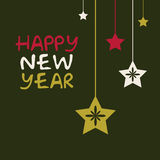 New year vector card Royalty Free Stock Images