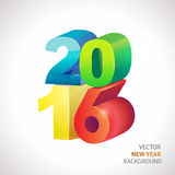 New year vector. 2016 new year colorful vector on white background Stock Images