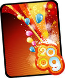 New year vector composition Stock Image