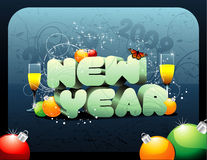 New year vector composition Royalty Free Stock Images