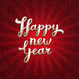 New Year vector greeting card Stock Photography