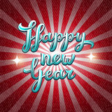 New Year vector greeting card Stock Images