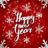 New Year vector greeting card Royalty Free Stock Images
