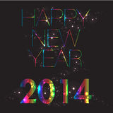 New Year 2014. Vector - Happy New Year 2014 Stock Image