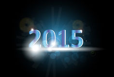 New Year 2015. Vector illustration of 2015 on a dark blue background Stock Images
