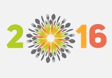 New Year 2016 Vector Illustration Stock Photo