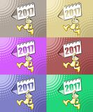 New Year 2017 vector illustration set Stock Images
