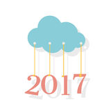 2017 new year, vector Stock Photography