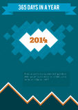 New year vector postcard 2014 Royalty Free Stock Photography