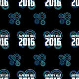 New year 2016 Vector Template Royalty Free Stock Photo