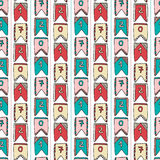 New Year vintage background of numbers 2017. Vector seamless pattern for wrapping or decorations.  Royalty Free Stock Photos