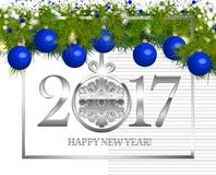New year Vintage Border Stock Images