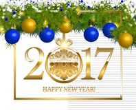New year Vintage Border Royalty Free Stock Photography