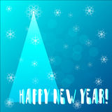 New Year vintage greeting card stock photos