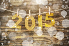 New year 2015. Vintage style Royalty Free Stock Images