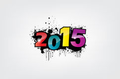 New year wallpaper. New year 2015 wallpaper, grunge effect Stock Photo