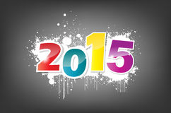 New year wallpaper. New year 2015 wallpaper, grunge effect Royalty Free Stock Image